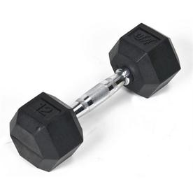 J FIT 12-lb Black Fixed-Weight Dumbbell