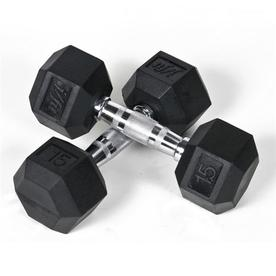 J FIT Set of Two 30-lb Black Fixed-Weight Dumbbells