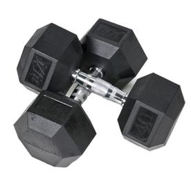 J FIT Set of Two 80-lb Black Fixed-Weight Dumbbells