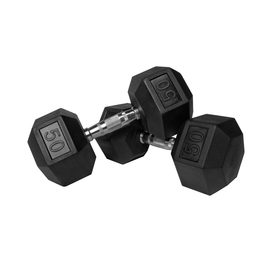 Xmark Fitness 100 -lb Chrome Fixed-Weight Dumbell Set