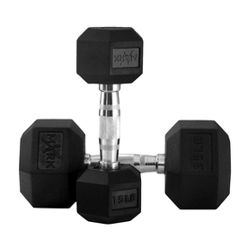 Xmark Fitness 550 -lb Fixed-Weight Dumbell Set