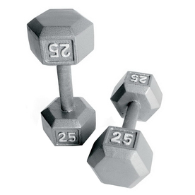 CAP 55-lb Gray Fixed-Weight