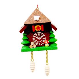 Alexander Taron Natural Wood Cuckoo Clock Hanging Ornament