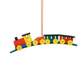 Alexander Taron Multicolor Train Ornament
