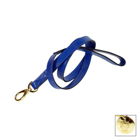Hartman & Rose Cobalt Blue Leather Dog Leash
