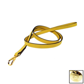 Hartman & Rose Sunshine Yellow Leather Dog Leash