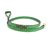 Hartman & Rose Scuba Lime Leather Dog Leash