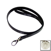 Hartman & Rose Black Leather Dog Leash