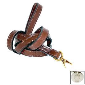 Hartman & Rose Rich Tobacco Leather Dog Leash