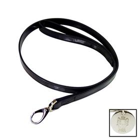 Hartman & Rose Black Leather Dog Leash