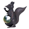 UMA Enterprises 16-in H Squirrel Gazing Ball Garden Statue