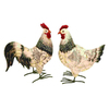 Woodland Imports 11-in H Speckled Roosters Garden Statue