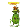UMA Enterprises 16-in H Sunflower King Frog Garden Statue