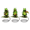 UMA Enterprises 12-in H Perching Musician Frogs Garden Statue
