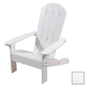 KidKraft White Wood Adirondack Chair