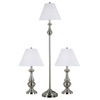 Kenroy Home 3-Piece Brushed Steel New Hope Lamps Lamp Set