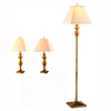 Gen-Lite 3-Piece Dark Antique Brass Lamp Set with Shades