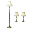 Gen-Lite 3-Piece Matte Antique Brass Riviera Lamp Set