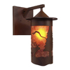 Steel Partners Pasadena 15.5-in H Rust Outdoor Wall Light