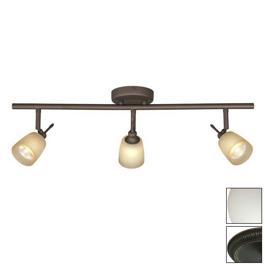 ... Oil-Rubbed Bronze Glass Pendant Linear Track Lighting Kit at Lowes.com