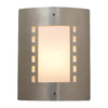 PLC Lighting Paolo 11-3/4-in Satin Nickel Outdoor Wall Light