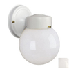 Galaxy 8-1/2-in White Outdoor Wall Light