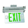 Morris Products Green LED Hardwired Exit Light
