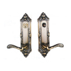 Double Hill Antique Brass Right-Handed Keyed Entry Door Lever