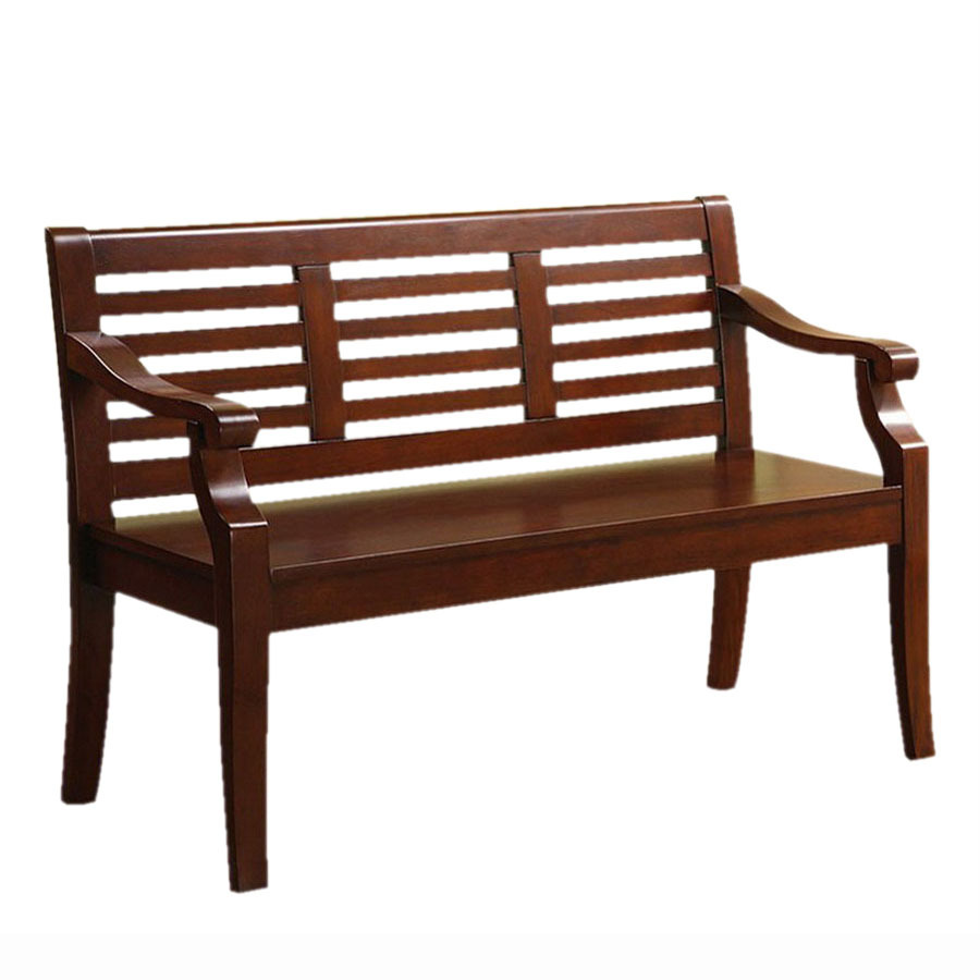 Shop Furniture Of America Angelle Dark Cherry Indoor Entryway Bench At