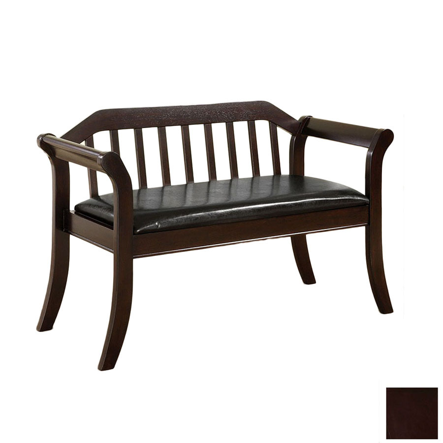 Shop Furniture Of America Derby Espresso Indoor Entryway Bench At