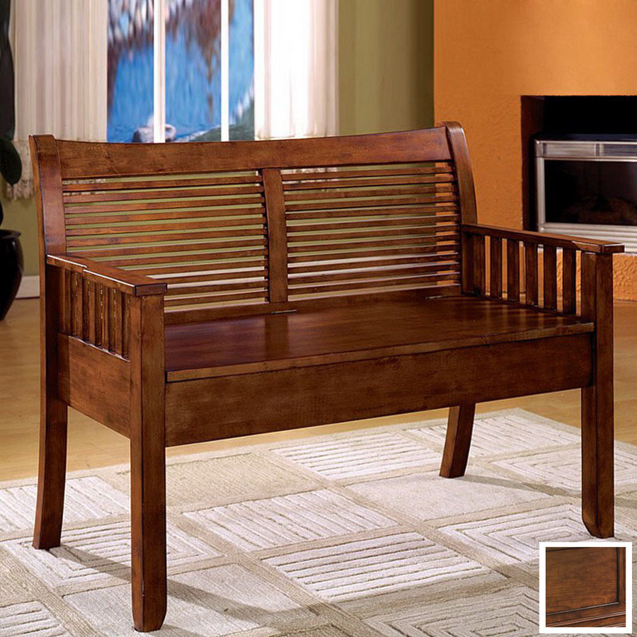 Entryway benches oak with storage