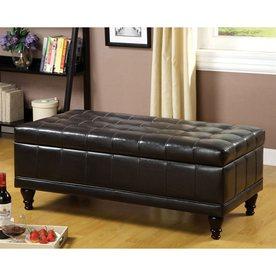 Shop Furniture of America Randel Espresso Indoor Entryway Bench