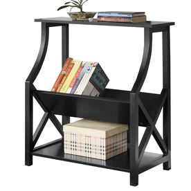 Powell Black 30-in 2-Shelf Bookcase