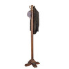 Powell Woodbury Mahogany 4-Hook Coat Stand