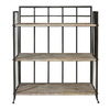 Powell Driftwood Iron Metal 42-1/2-in 3-Shelf Bookcase