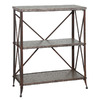 Powell Foundry Antique Pewter 35-in 3-Shelf Bookcase