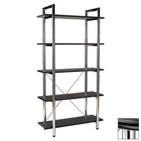 Eurostyle Laurence Black 68-in 5-Shelf Bookcase