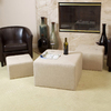 Best Selling Home Decor Juniper Beige Square Ottoman