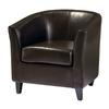 Best Selling Home Decor Preston Espresso Brown Club Chair