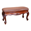 International Caravan Carved Wood Vanity Bench