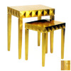 Wayborn Furniture Gold Leaf Accent Table Set