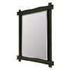 Steel Partners Bundle Of Sticks 21.5-in x 25-in Black Beveled Rectangle Framed Wall Mirror