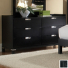Homelegance Bella Black 6-Drawer Dresser