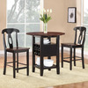 Homelegance Atwood Black and Rich Espresso Dining Set