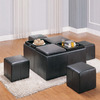 Homelegance Claire Dark Brown Square Ottoman