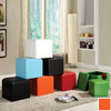 Homelegance Orange Square Ottoman