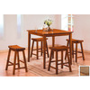 Homelegance Saddleback Oak Dining Set
