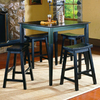 Homelegance Saddleback Black Sand-Through Dining Set