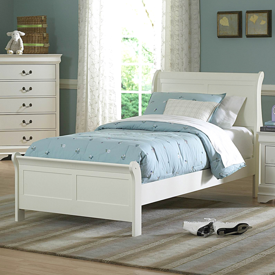 Shop Homelegance Marianne White Twin Sleigh Bed At
