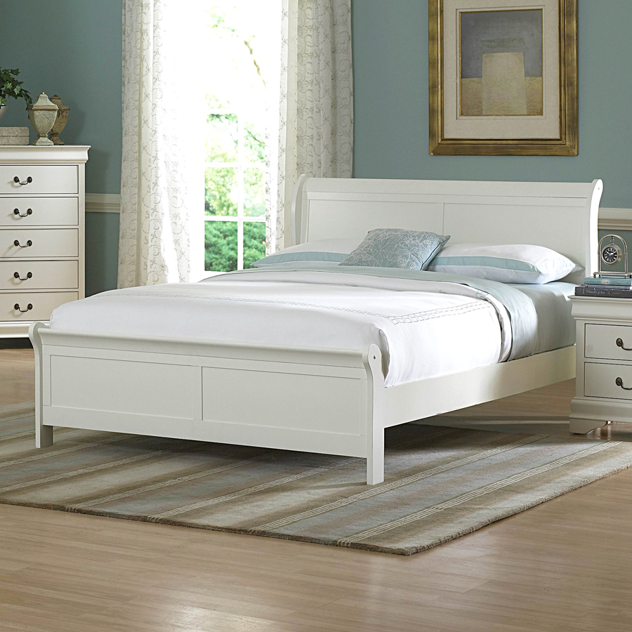 Shop Homelegance Marianne White Queen Sleigh Bed at Lowes.com